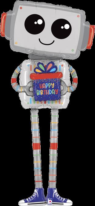 6ft Tall Happy Birthday Giant Robot Balloon